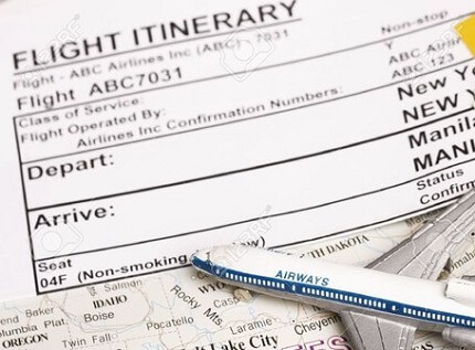 How to get flight itinerary without paying