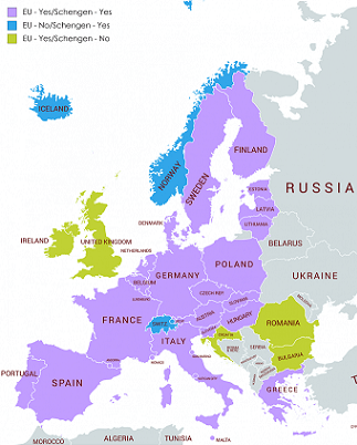 Schengen EU Countries